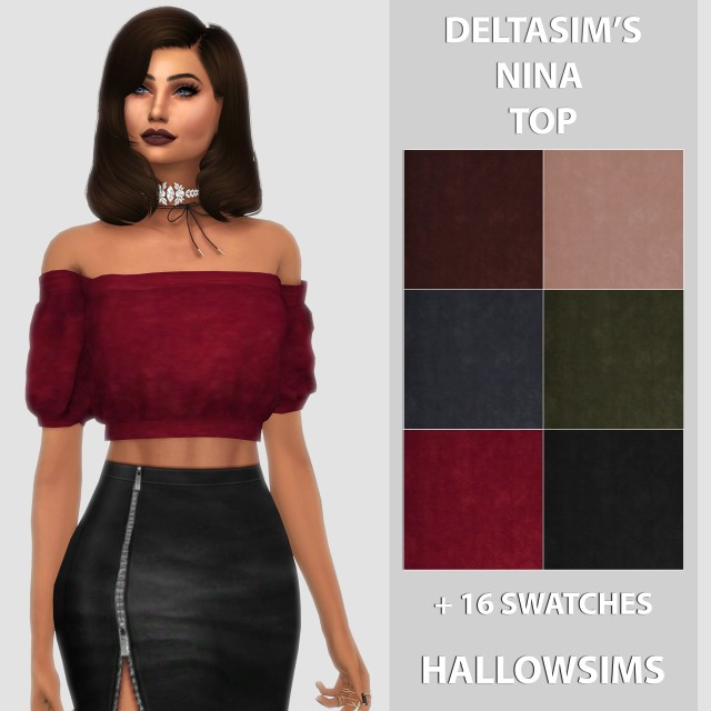 DeltaSims Nina Top by HallowSims