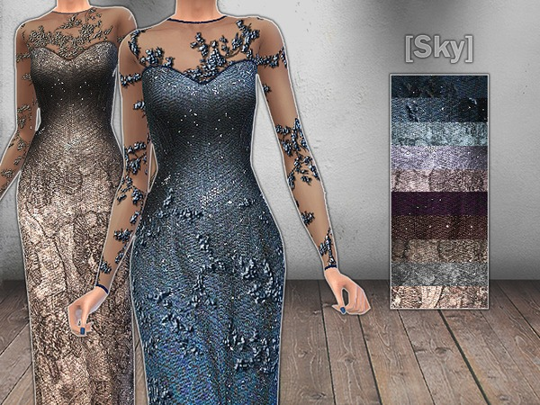 Glitter Embellished Sleeves by skysky14