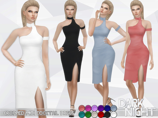 Cropped Midi Cocktail Dress by DarkNighTt