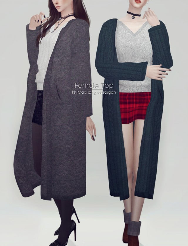 Maxi long cardigan for Female by Ooobsooo