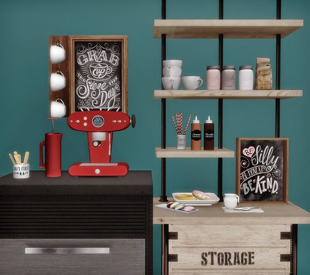 AnYe Coffee Set by DreamTeamSims
