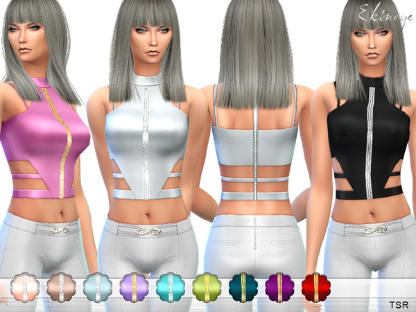 Cut Out Crop Top by ekinege