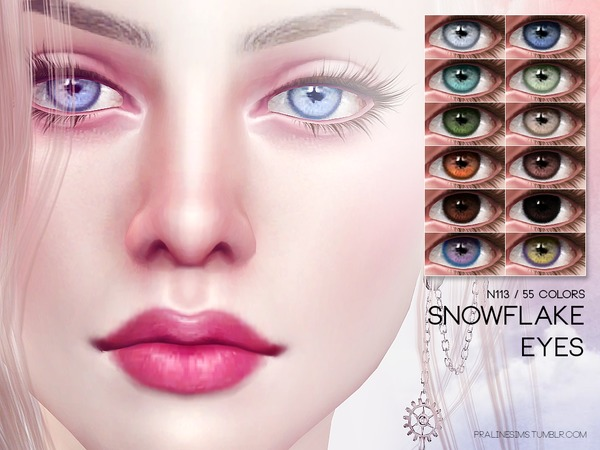 Snowflake Eyes N113 by Pralinesims