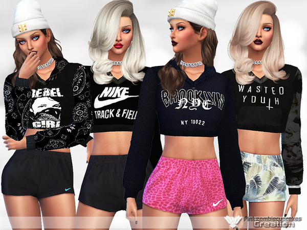 Simple Black Hoodie Collection by Pinkzombiecupcakes