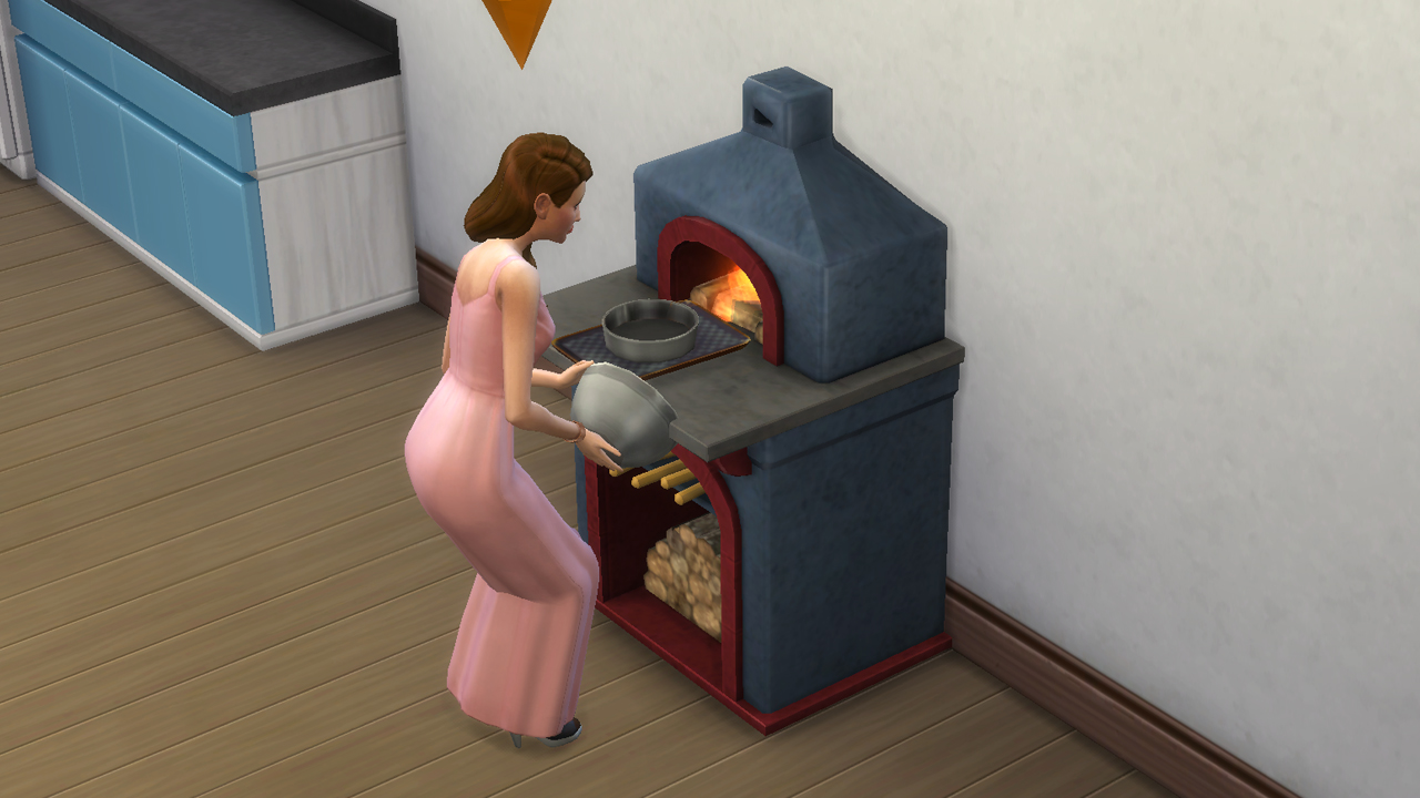 Montevista wood fire oven S3 conversion with animated fire by necrodog