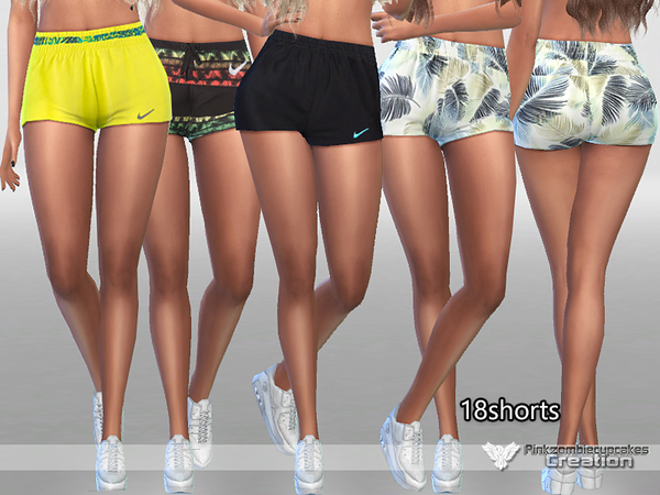 Sporty Shorts Pack by Pinkzombiecupcakes