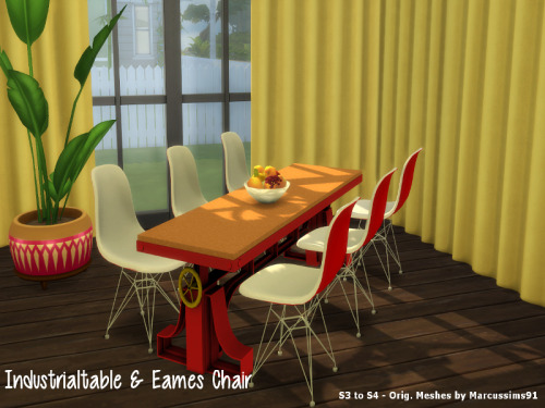 TS3 Industrial Table & Eames Chair Conversions by ChillisSims