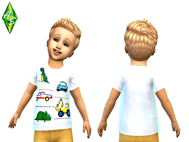 NEXT white cute t-shirt for toddlers by Atomic-sims