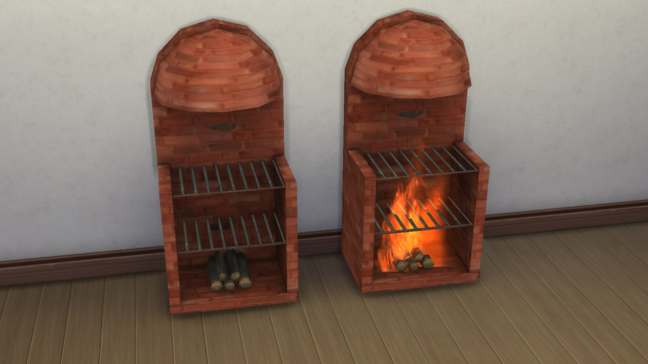 Medieval stove-grill-fireplace by necrodog