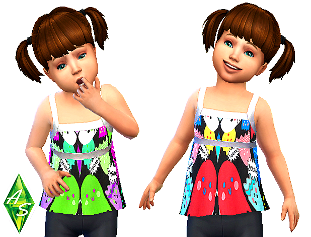 Cute octopus top for toddlers by Atomic-sims