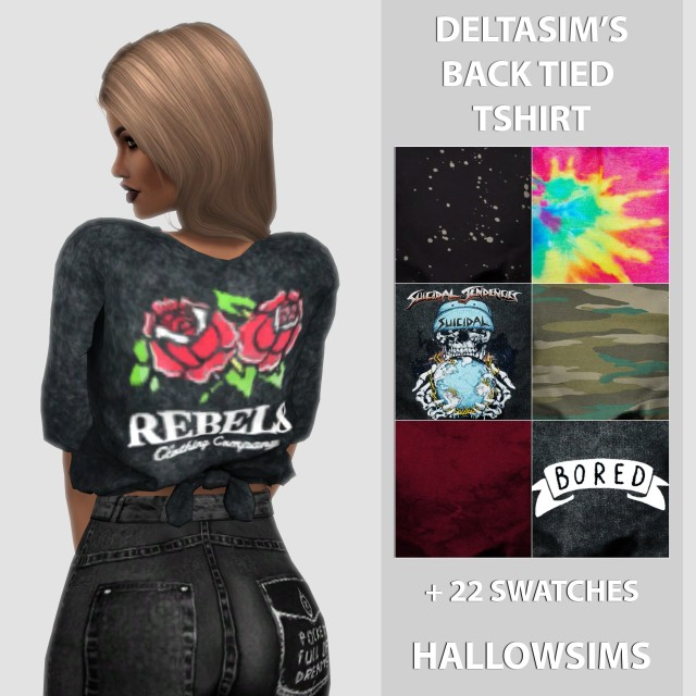 DeltaSims Back Tied T-shirt by HallowSims