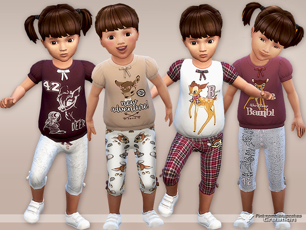 Bambi Pyjama Set for Toddlers by Pinkzombiecupcakes