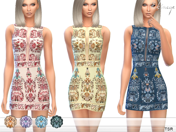 Embroidered Sleeveless Dress by ekinege