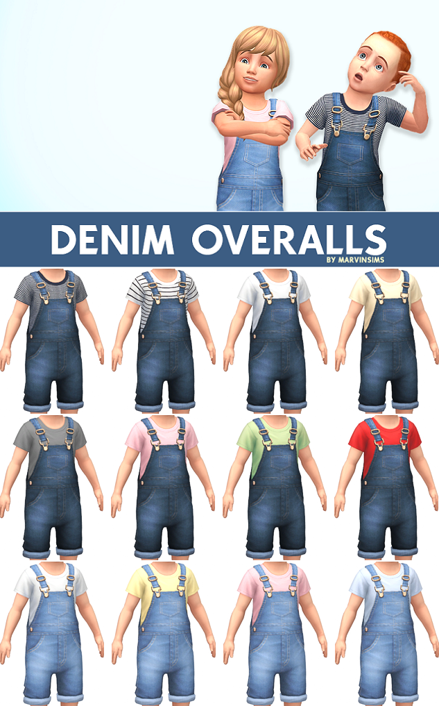 Denim Overalls by MarvinSims