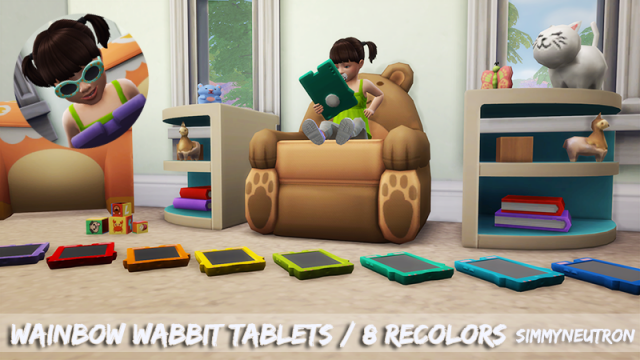 Wainbow wabbit tablet by Simmyneutron