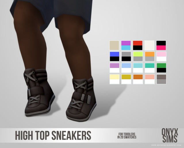 High Top Sneakers for Toddlers by onyxsims
