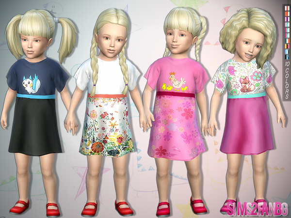 290 - Toddler Dress by sims2fanbg