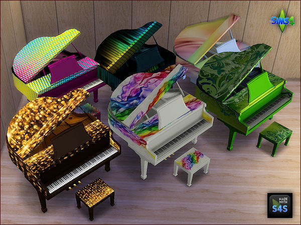 6 recolored pianos set by Mabra