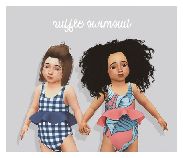 ruffle swimsuit by puresims