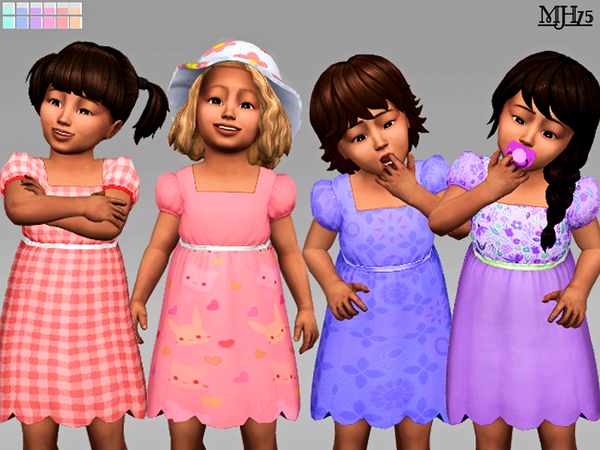 Cutie Toddler Dresses (12 Versions) by Margeh-75