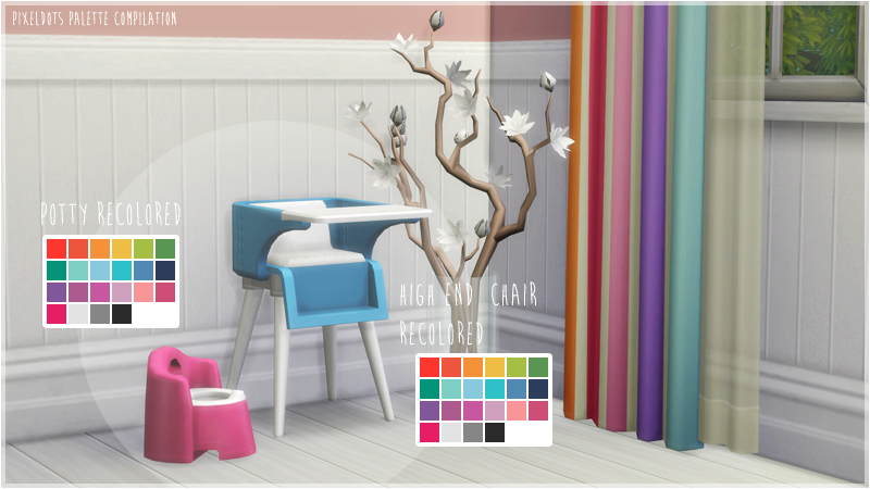 Highchair and Potty Recolors by FlamingBlaze