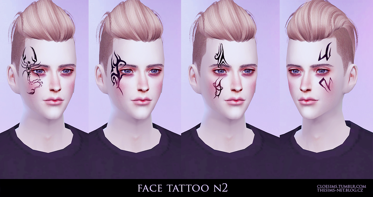 Face Tattoos by CloeSims