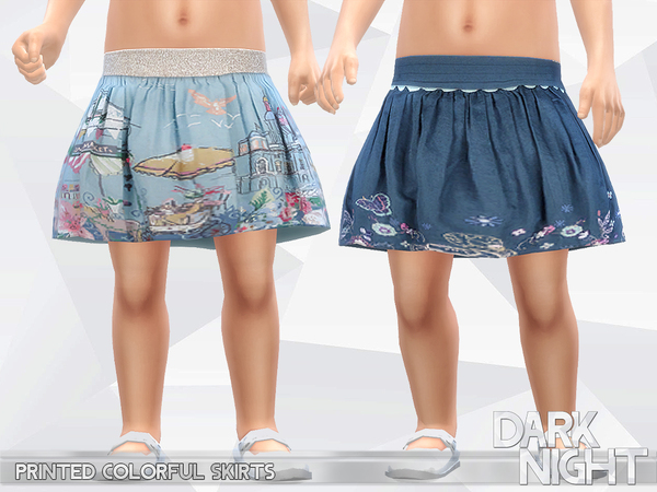Printed Colorful Skirts by DarkNighTt