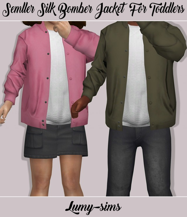 Semller Silk Bomber Jacket for Toddlers by lumy-sims