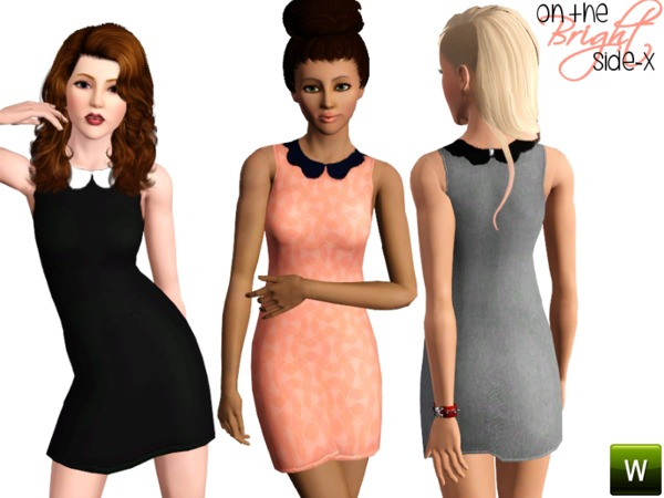 Scalloped Collar Dress by onthebrightside-x