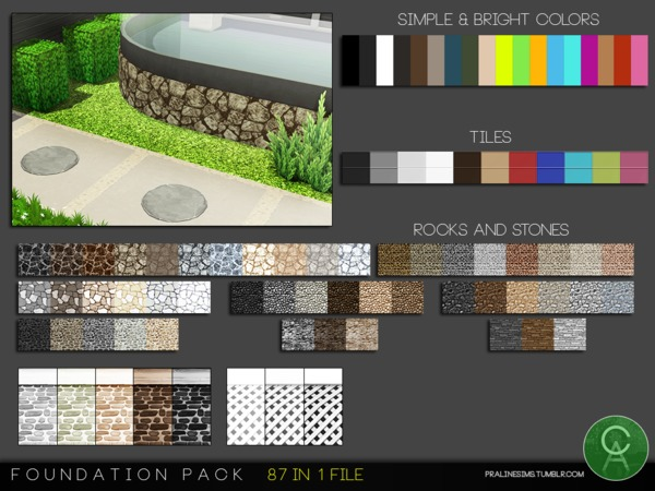 Foundation Pack by Pralinesims