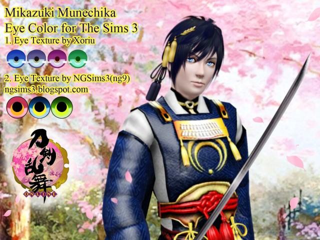 Mikazuki Munechika Eye Color by ngsims3