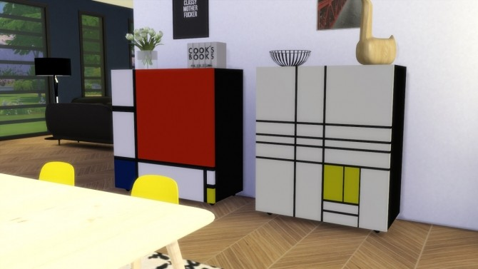 Homage To Mondrian Cabinet by Meinkatz Creations