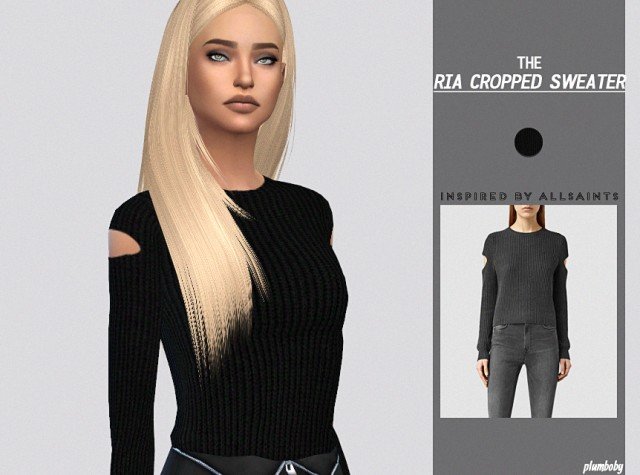 Ria Cropped Sweater by plumboby