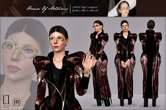 ArtRAVE Press Conference  Custom Louise Leconte by Artsims