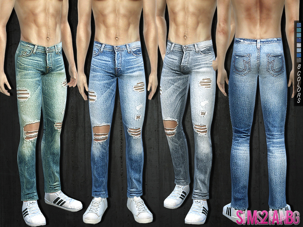 292 - Ripped Jeans by sims2fanbg