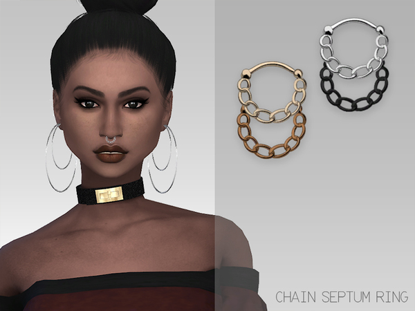 GrafitySims - Chain Septum Ring