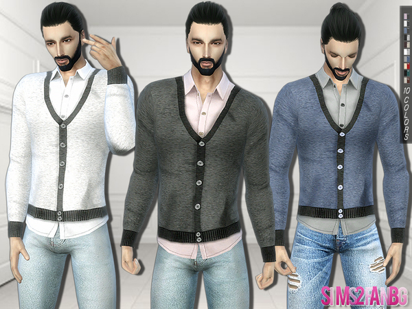 293 - Shirt With Vest by sims2fanbg