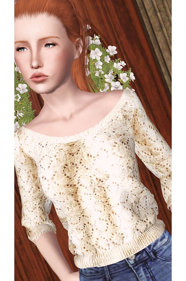 Off-Shoulder Crochet Sweater by halosims