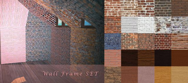 Wall Frame 2x1 / 2x1t / 3x1 / 3x1t / 3x2t + Matching Walls by yumiaplace