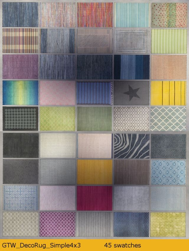 Simple Rug 45 swatches, 4x3 tiles by Gatochwegchristel