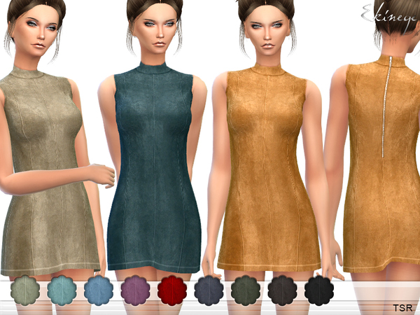 Suede Shift Dress by ekinege