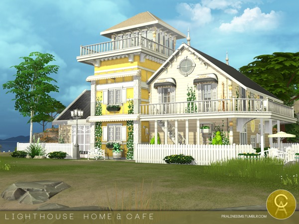 Lighthouse Home & Cafe by Pralinesims