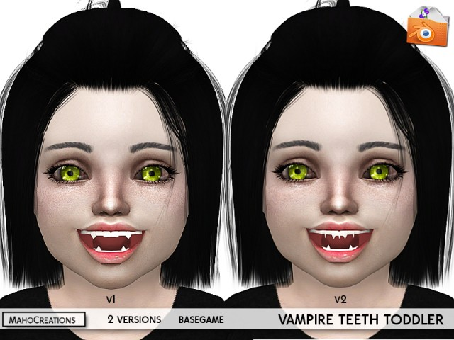 Vampire Teeth Toddler by MahoCreations