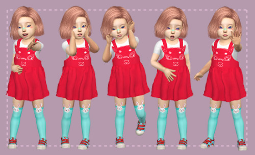 Toddler poses set 1 by Radioactive
