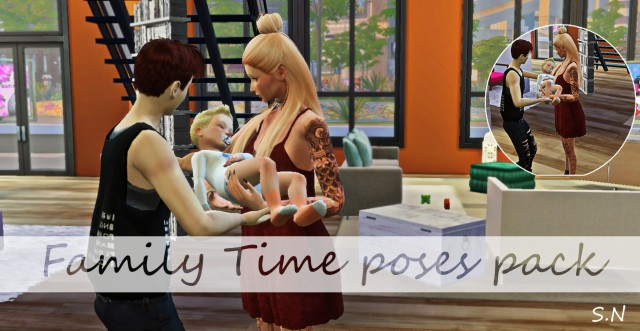 Family time poses by Simsnema