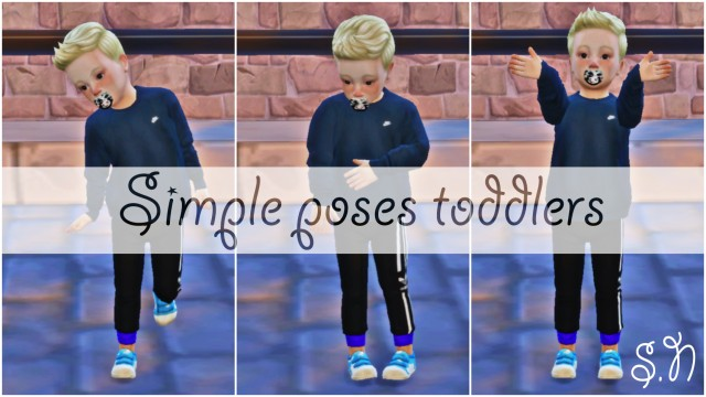 Toddler Poses by Simsnema