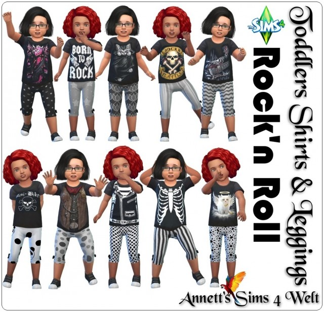 """Toddlers Shirts & Pants """"Rock'n Roll"""" by Annett85"""