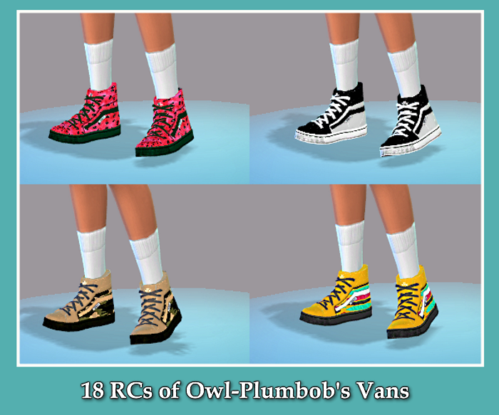 Vans in 18 Recolors by BLewis