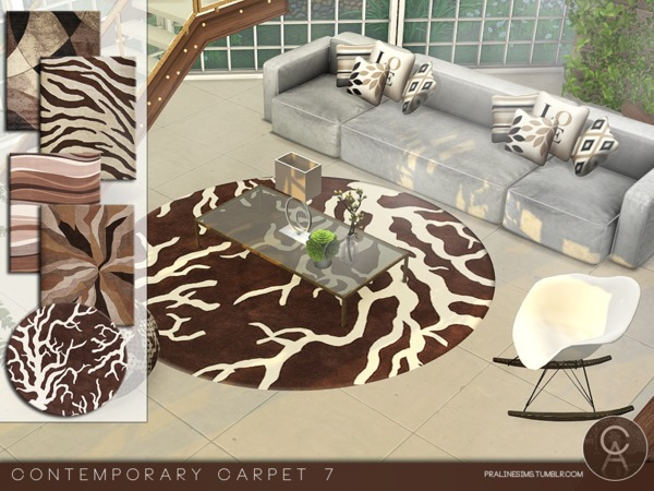 Contemporary Carpets 7 by Pralinesims