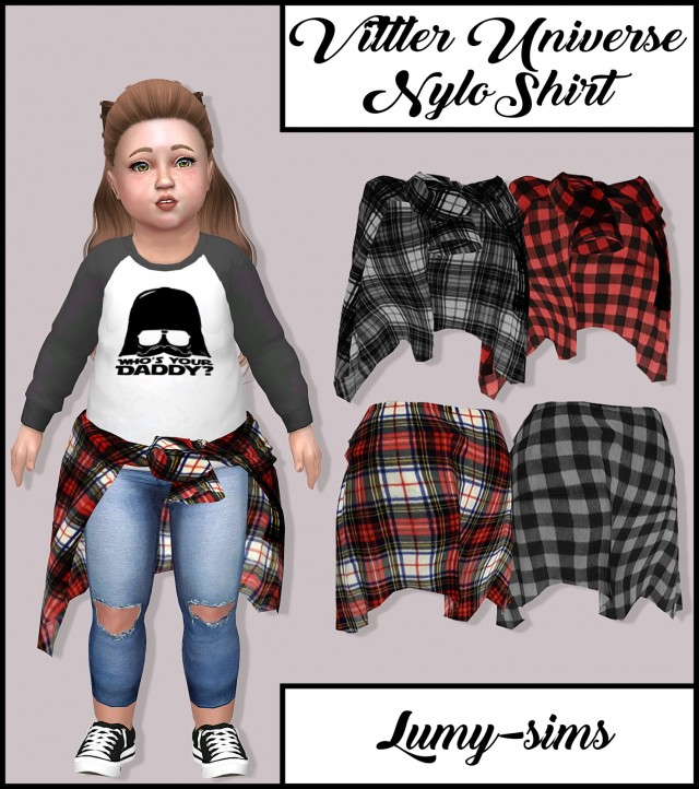 Vittler Universe Nylo Shirt for Toddlers by Lumy-sims
